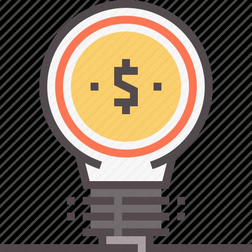 financial, fintech, idea, solution icon