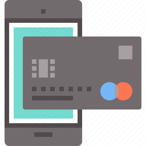 bank, banking, card, mobile, phone, smartphone icon