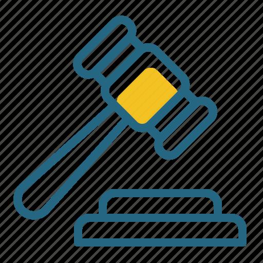 auction, court, gavel, judge icon