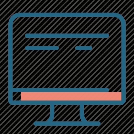 computer, monitor, pc, work icon