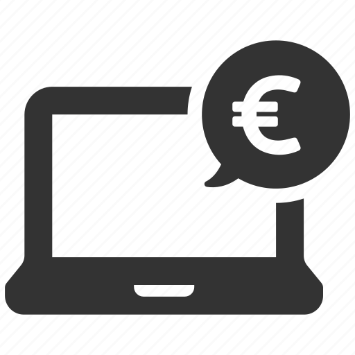 computer, earnings, euro, finance, income, money, payment icon