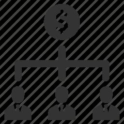 dollar, finance, group, money, people, salary, teamwork icon