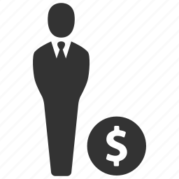 business, businessman, dollar, earnings, income, profit, savings icon