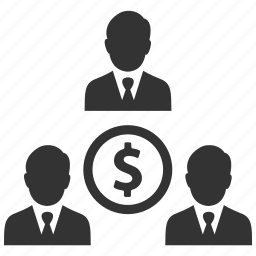 businessmen, dollar, earnings, finance, group, money, people icon