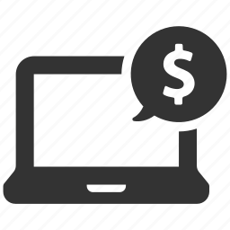 banking, computer, dollar, earnings, finance, money, online shopping icon