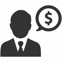 business, businessman, dollar, earnings, finance, money, sales icon