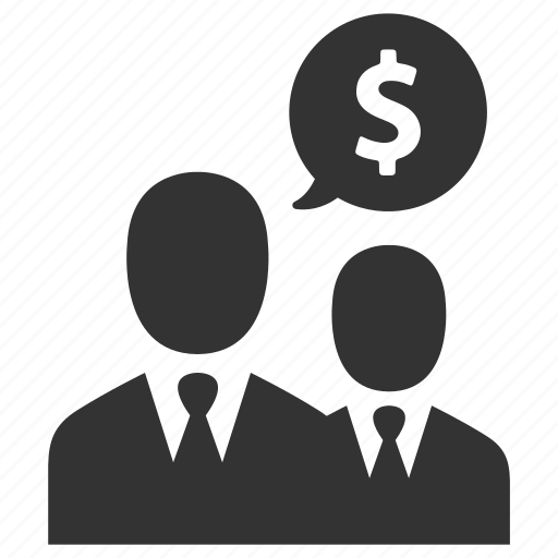 business, businessmen, dollar, income, money, negotiations, salesmen icon
