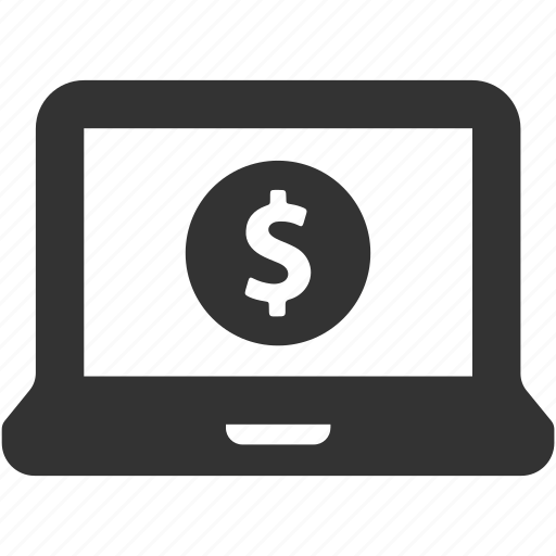 computer, dollar, earnings, finance, income, money, payment icon