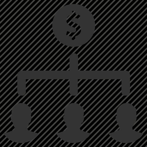 earn, finance, group, money, people, salary, teamwork icon
