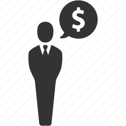 businessman, dollar, earnings, finance, money, salesman, usd icon