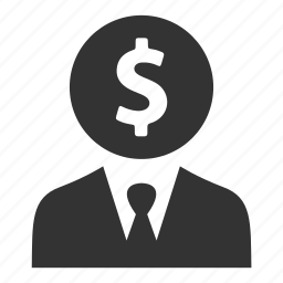 account, businessman, dollar, finance, money, person, user icon