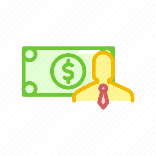 cash, dollar, finance, male, money, note, payment icon