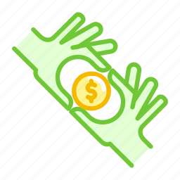 american, care, coin, currency, dollar, hand, pay icon