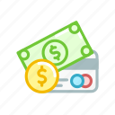 card, credit, currency, debit, dollar, money, notes icon