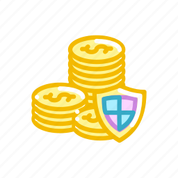 american, coin, coins, currency, dollar, finance, security icon