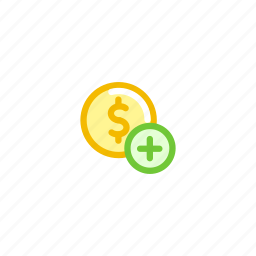 add, american, coin, currency, dollar, finance, money icon