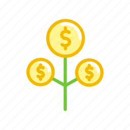 american, coin, currency, dollar, finance, money, tree icon