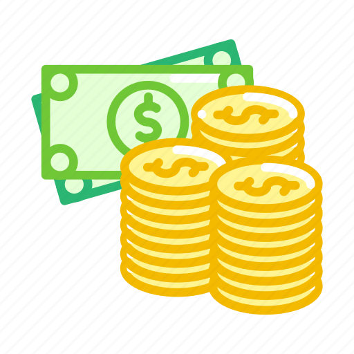 american, coins, currency, dollar, finance, money, notes icon