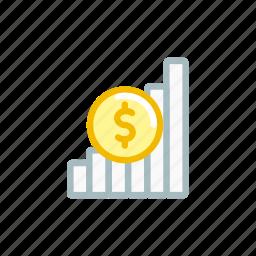 finance, market, money, position, statics, stock icon