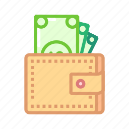 card, coin, currency, finance, notes, purse, wallet icon