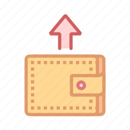 feed, finance, money, outgoing, purse, wallet icon