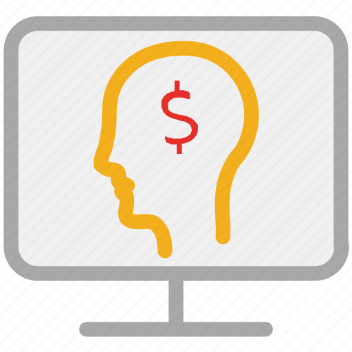 businessman, internet, screen, user icon