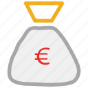 money bag, pouch, sack icon