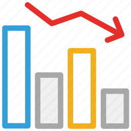 chart, descending, graph, statistics icon