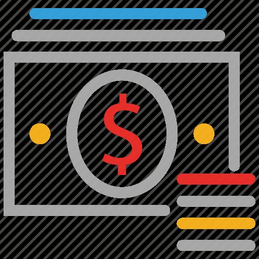 cash, cash flow, dollars, finance icon