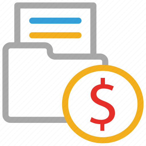 business files, dollars sign, file folder, folder icon