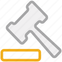 hammer, justice, law symbol, tool icon