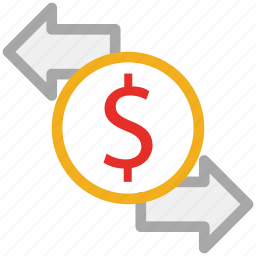 currency, dollar, finance, transform icon