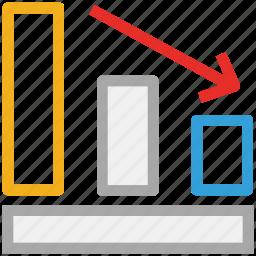 business, descending, finance, loss icon