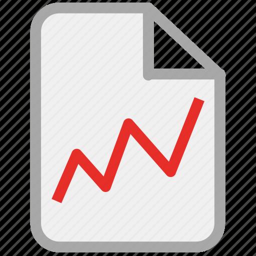 ascending line, diagram, graph, report icon