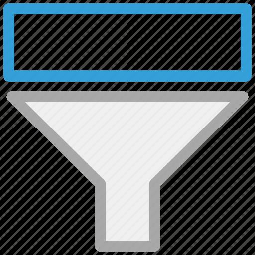 descending, filter, funnel, sort icon
