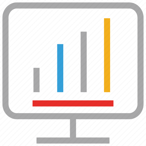 bar, internet, online business, online business report icon