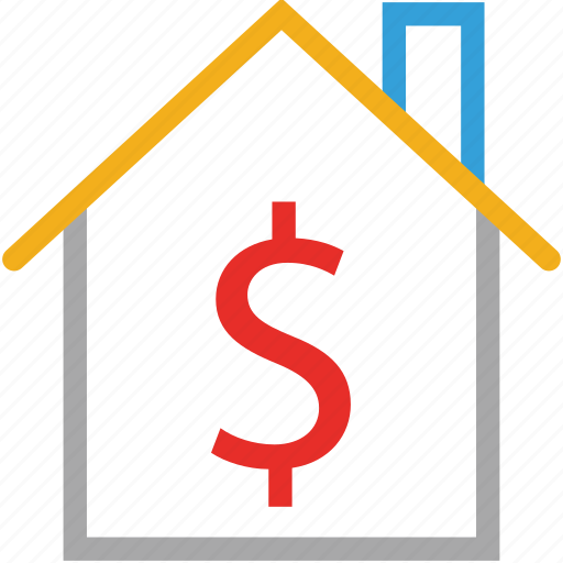 dollar sign, house, property, value icon