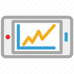 chart, online business, online business report, tablet icon