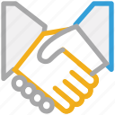 business partner, businessmen, deal, shake hand icon