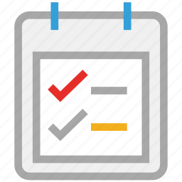 list, plan, schedule, tasks icon