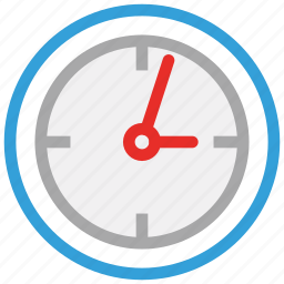 clock, round clock, time, timer icon