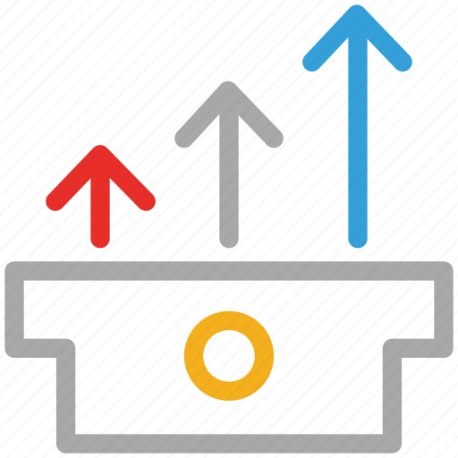 ascending, benefit, business, stats bar icon