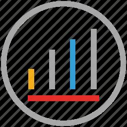 analytics, circle, graph, statistics icon