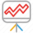 easel, graph, project, report icon
