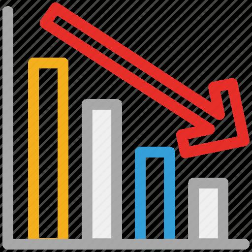 chart, descending, report, statistics icon