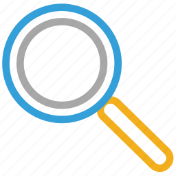 glass, magnifier, magnifying glass, search tool icon