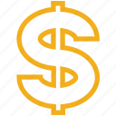 currency, dollar, dollar sign, finance icon