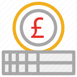 coin, currency, finance, pound icon
