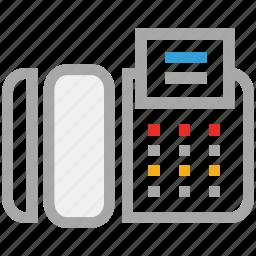 fax, fax machine, telephone, telex icon