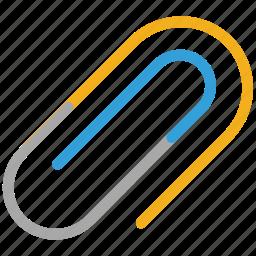 attach file, attachment sign, clip, paper clip icon